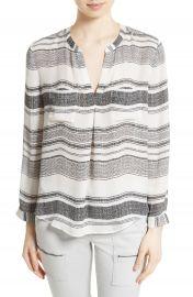 Joie Obeline Stripe Silk Blouse at Nordstrom