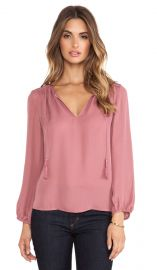 Joie Odelette Blouse in Rouge  REVOLVE at Revolve
