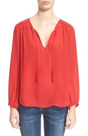 Joie Odelette Silk Shirt in Deep Cerise at Nordstrom