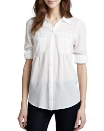 Joie Pinot Rolled-Sleeve Blouse at Neiman Marcus