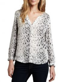 Joie Purine Leopard-Print Blouse at Neiman Marcus