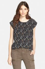 Joie Rancher B Print Silk Top at Nordstrom
