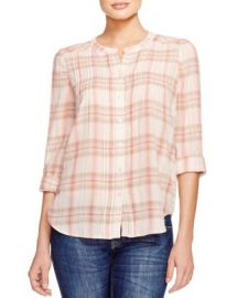 Joie Thulite Plaid Pintuck Shirt at Bloomingdales
