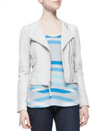 Joie Vivianette Cropped Leather Jacket at Neiman Marcus