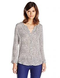 Joie Women s Purine Parisian Leopard Silk Long Sleeve Blouse at Amazon