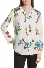 Joie Yaritza B Floral Silk Top at Nordstrom