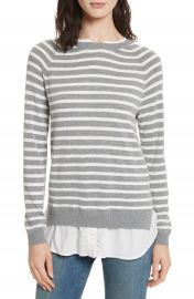 Joie Zaan Hem Inset Stripe Sweater at Nordstrom