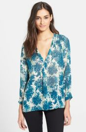 Joie and39Acelineand39 Print Silk Shirt at Nordstrom
