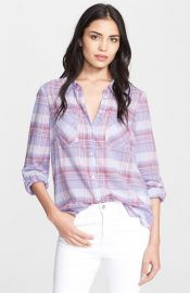 Joie and39Aidanand39 Plaid Shirt at Nordstrom