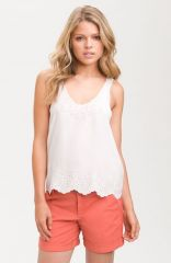 Joie and39Boydand39 Eyelet Silk Tank at Nordstrom