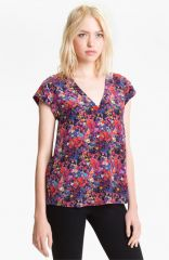 Joie and39Rubinaand39 V-Neck Silk Top at Nordstrom
