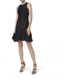 Jonathan Simkhai Two-Tone Lace Mini Dress at Intertmix