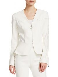 Jonathan Simkhai - Crepe Peplum Blazer at Saks Fifth Avenue