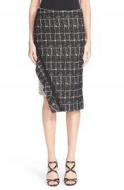 Jonathan Simkhai Asymmetrical Ruffle Pencil Skirt at Nordstrom