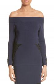 Jonathan Simkhai Lace Appliqu   Off the Shoulder Top at Nordstrom