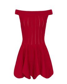 Jonathan Simkhai Off Shoulder Pointelle Dress at Intermix