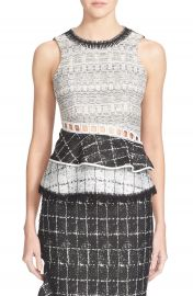 Jonathan Simkhai Open Back Ruffle Top at Nordstrom