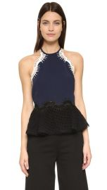 Jonathan Simkhai Tower Mesh Halter Top at Shopbop