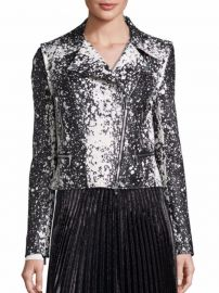 Joneva Splatter-Print Moto Jacket by Diane von Furstenberg at Saks Off 5th