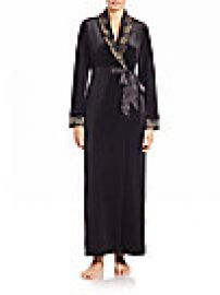 Jonquil - Lace-Trimmed Velvet Robe at Saks Fifth Avenue