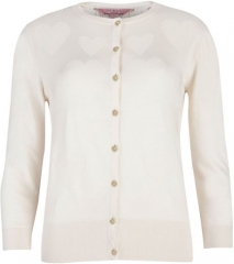 Jonte Heart Detail Cardigan at Ted Baker