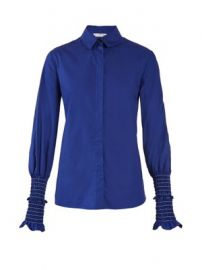Jorda smocked-cuff cotton-poplin shirt at Matches