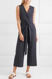 Joslyn pinstriped linen and cotton-blend canvas jumpsuit at Net A Porter