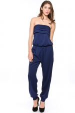 Josslyns blue strapless jumpsuit at Fe