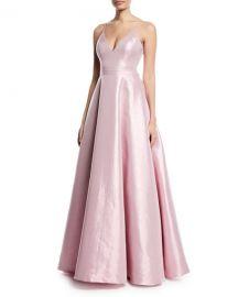Jovani Taffeta Slip Gown w  Swing Skirt   Neiman Marcus at Neiman Marcus