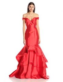 Jovani Women s Fitted Off The Shoulder Dress at Amazon