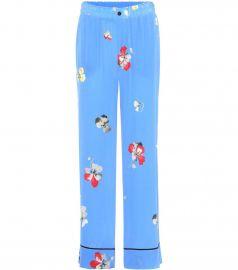 Joycedale printed silk trousers at Mytheresa