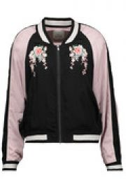Juanita embroidered satin bomber jacket at The Outnet