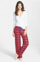 Juicy Couture Cotton Flannel Pajamas in plaid at Nordstrom