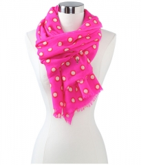Juicy Couture Double Dot Print Oblong Scarf Beauty at Zappos