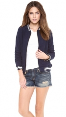 Juicy Couture Racer Rib Bomber Jacket at Shopbop