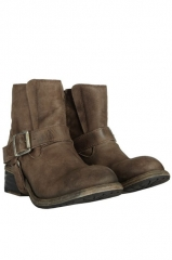 Jules Biker boots in taupe at All Saints