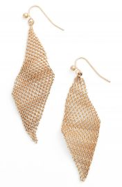 Jules Smith Mesh Wave Kite Earrings at Nordstrom