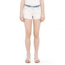 Julia Distressed Denim Shorts at Club Monaco
