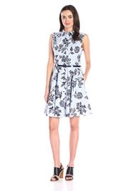 Julian Taylor Women s Floral Printed Sleeveless ShirtDress at Amazon