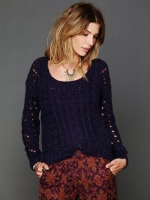 Juliettes blue knit sweater at Free People