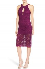 Jump Apparel Lace Midi Body-Con Dress at Nordstrom