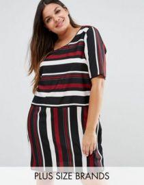 Junarose Striped Shift Dress at asos com at Asos