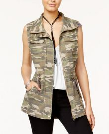 Camouflage Utility Vest at Macys