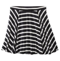 Juniors striped flippy skirt at Target