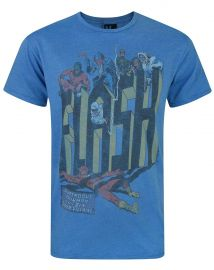 Junk Food Flash Six Super Villains Men s T-Shirt at Amazon