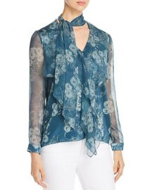 Jurnee Floral Silk Blouse at Bloomingdales