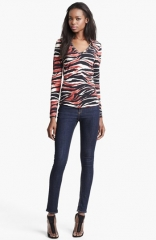 Just Cavalli Zebra Print Top at Nordstrom