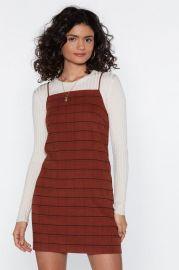 Just a Check Mini Dress at Nasty Gal