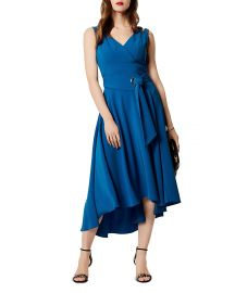 KAREN MILLEN Belted High Low Midi Dress at Bloomingdales