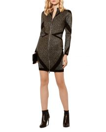KAREN MILLEN Metallic Knit Dress at Bloomingdales